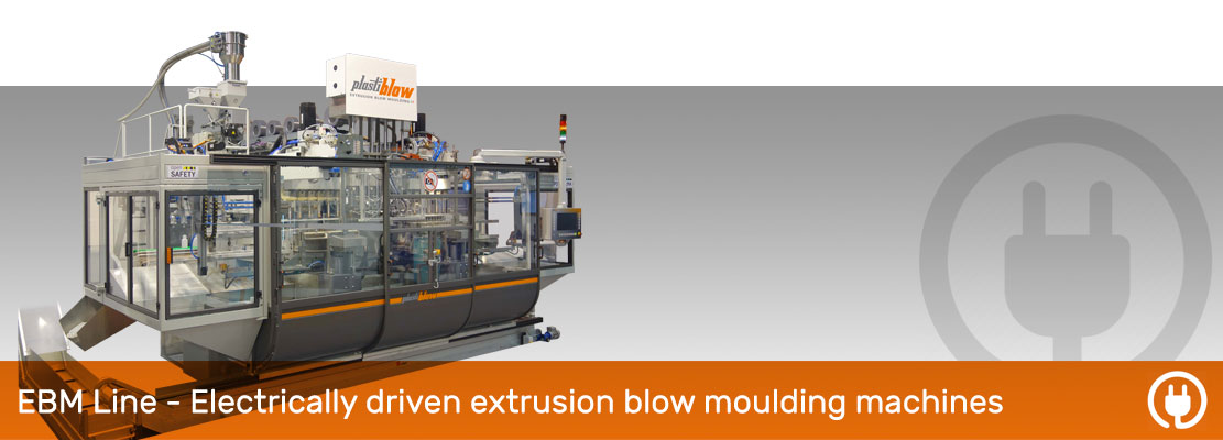 Electric blow moulding machines